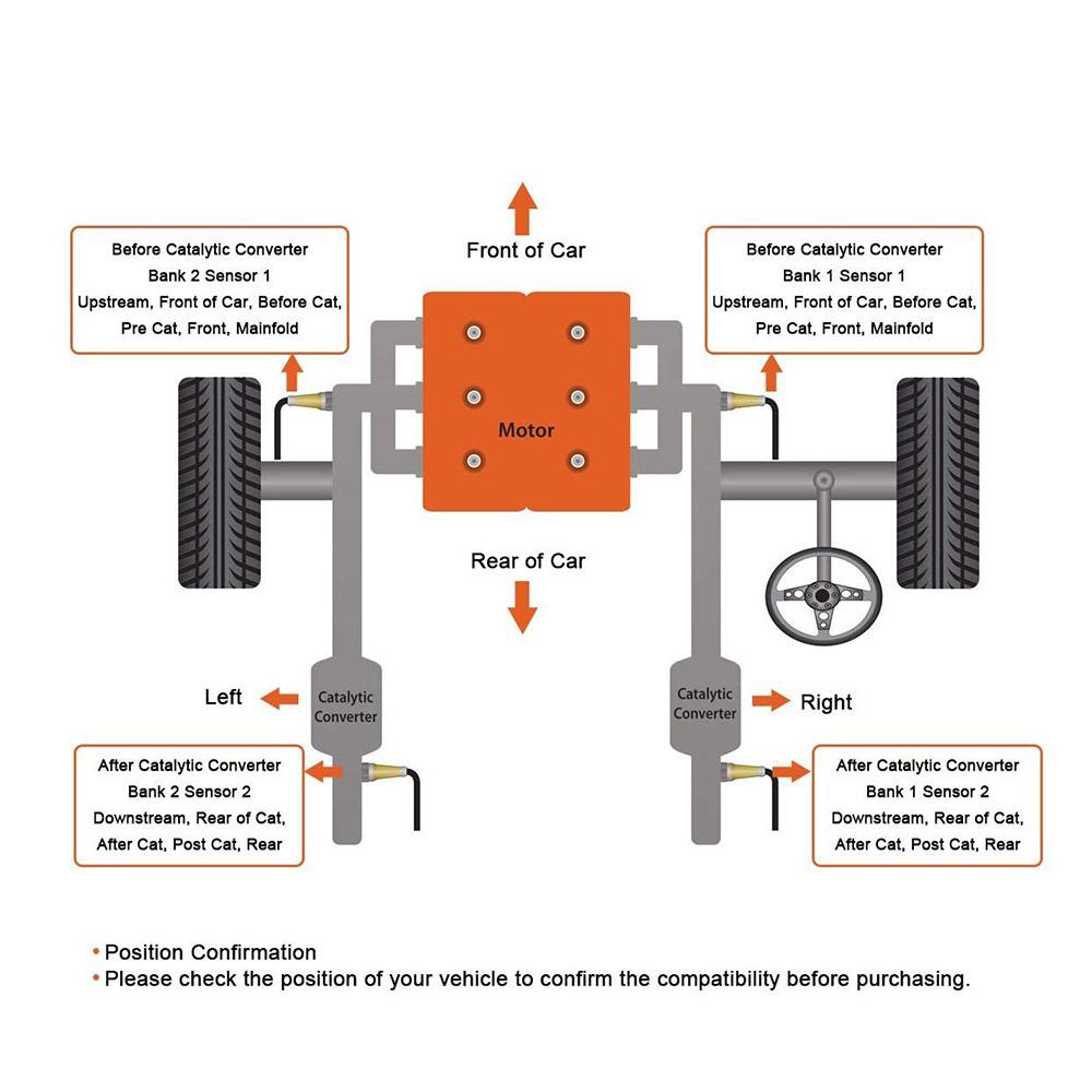Car Oxygen O2 Sensor For 05 11 Hyundai Elantra Accent Kia Rio5 16l 2011 Rio Engine Diagram 2005 18l 20l