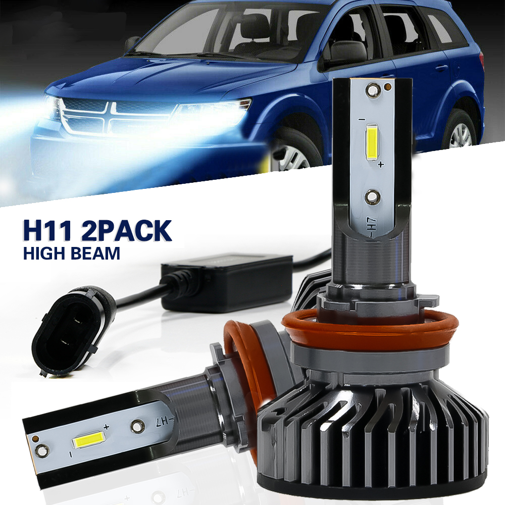 2x H8 H11 LED Headlights High//Low Beam Fog Light COB Chips Bulbs Conversion Kit