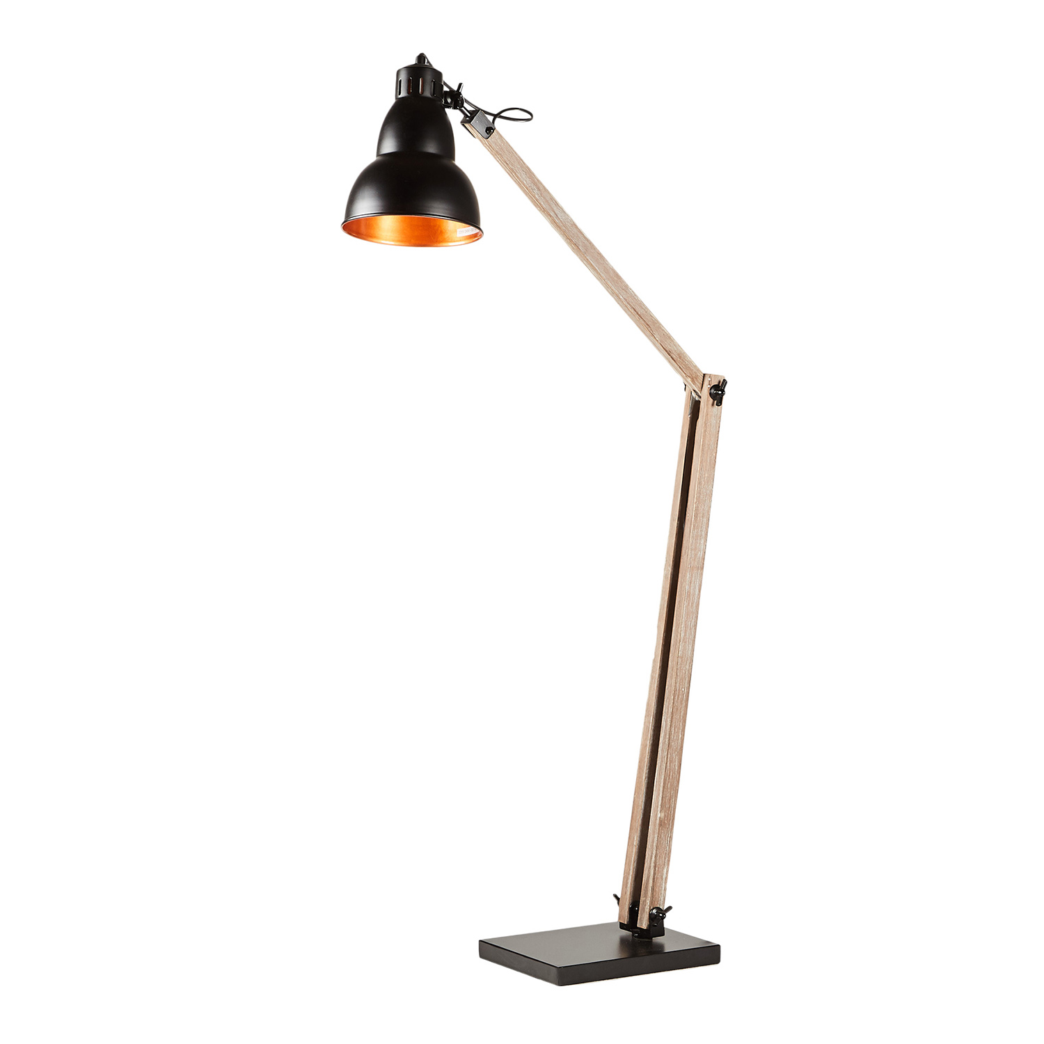 Details About Large Table Floor Lamp Swing Swivel Arm Study Bedroom Reading H137cm Wooden Base