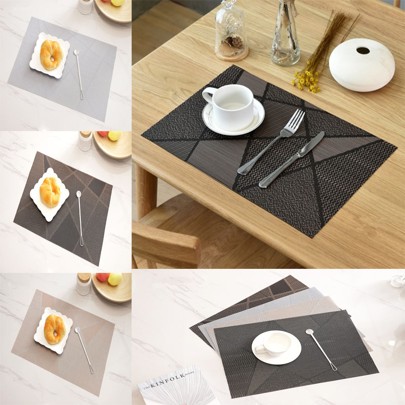 UK Placemat Non-Slip Table Mats Wedding Tablemats Coffee Cup Coasters Chic INS