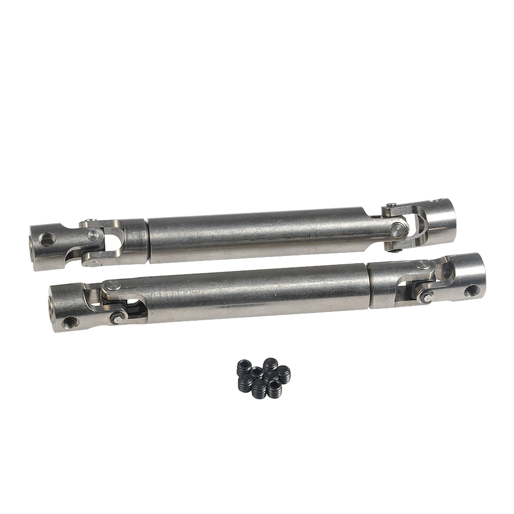90-115mm//100-135mm//110-155mm Steel Universal Drive Shaft for 1//10 RC SCX10 D90