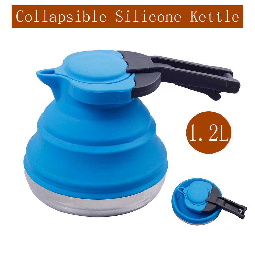 Silicone Collapsible Folding Kettle Kitchen Camping Hob Gas Stove Hiking  230 ℃