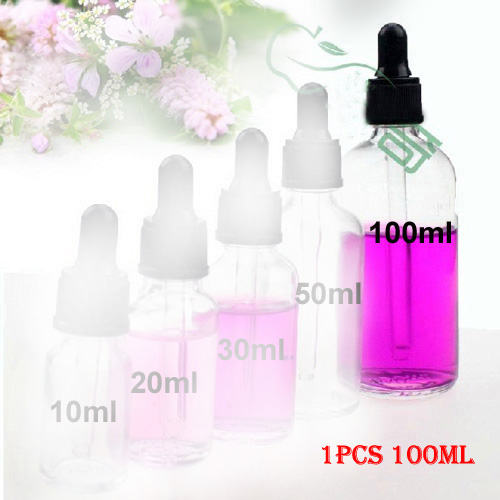 046e6cb7279b Details about 100ml Clear Glass Eye Dropper Bottle Aromatherapy Essential  Oil Pipette Bottle