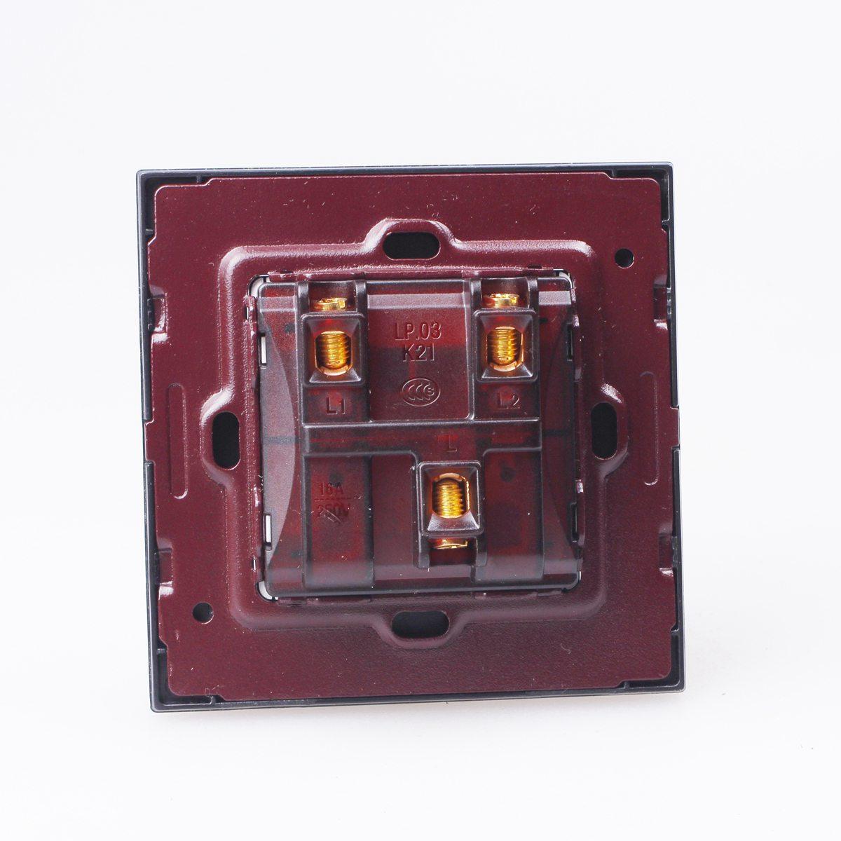 Uk Ac 90 2  3 Gang 1 Way Crystal Glass Panel Home