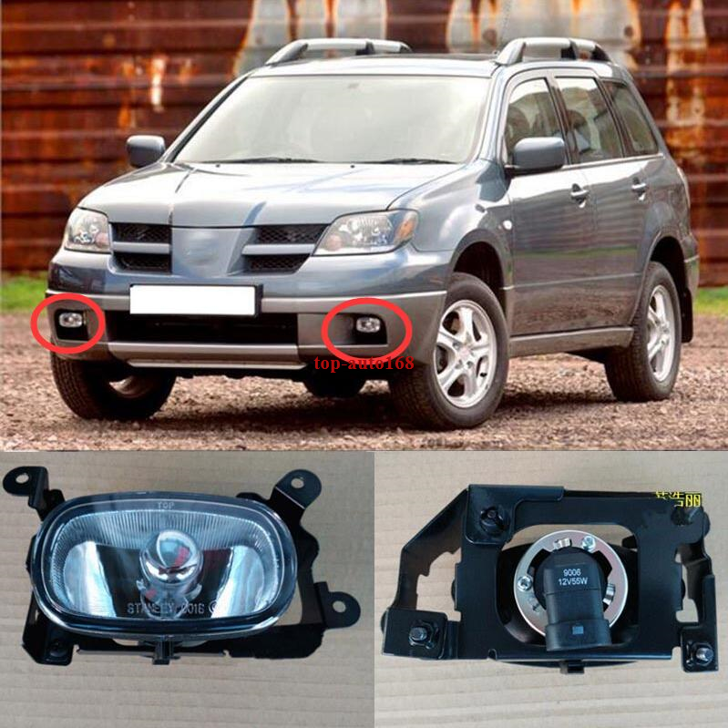2pcs Auto Front Fog Light Lamp Right Side Fit For Mitsubishi Outlander 2003-2006