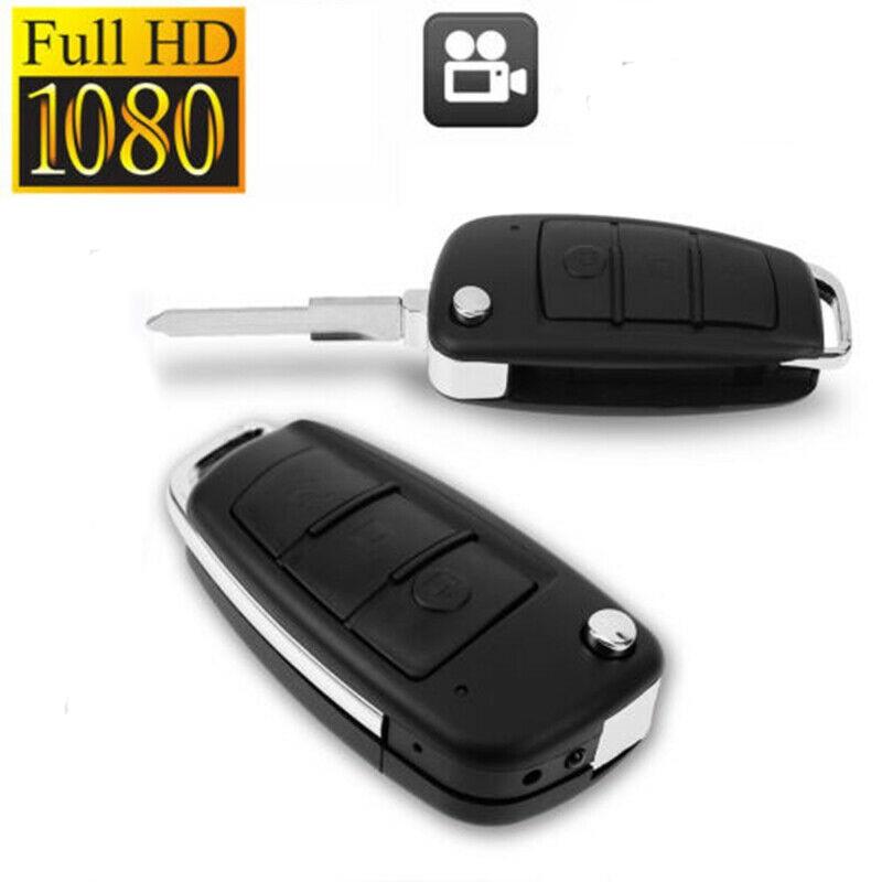 HD 1080P Mini SPY Camera Hidden DVR Motion Detection IR CAM Metal Car Key Chain