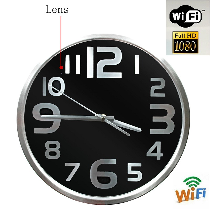 HD 1080P WIFI Spy Hidden Camera Wall Clock Video recorder Motion