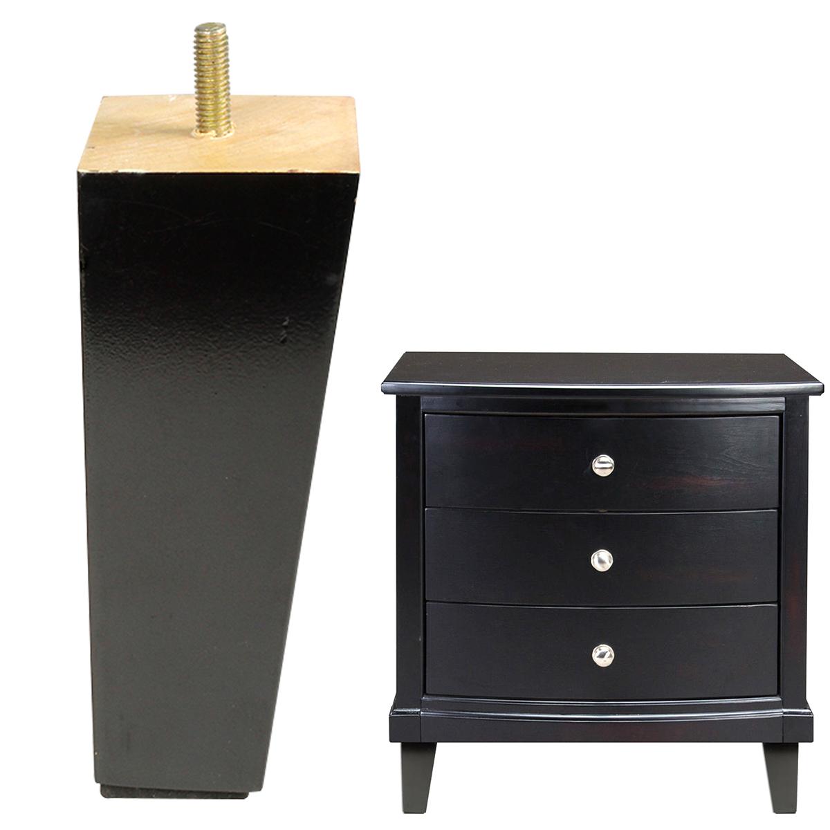 4x holz m belf e tischbeine f r sofa couchtisch tv bank sessel hocker r camiere. Black Bedroom Furniture Sets. Home Design Ideas