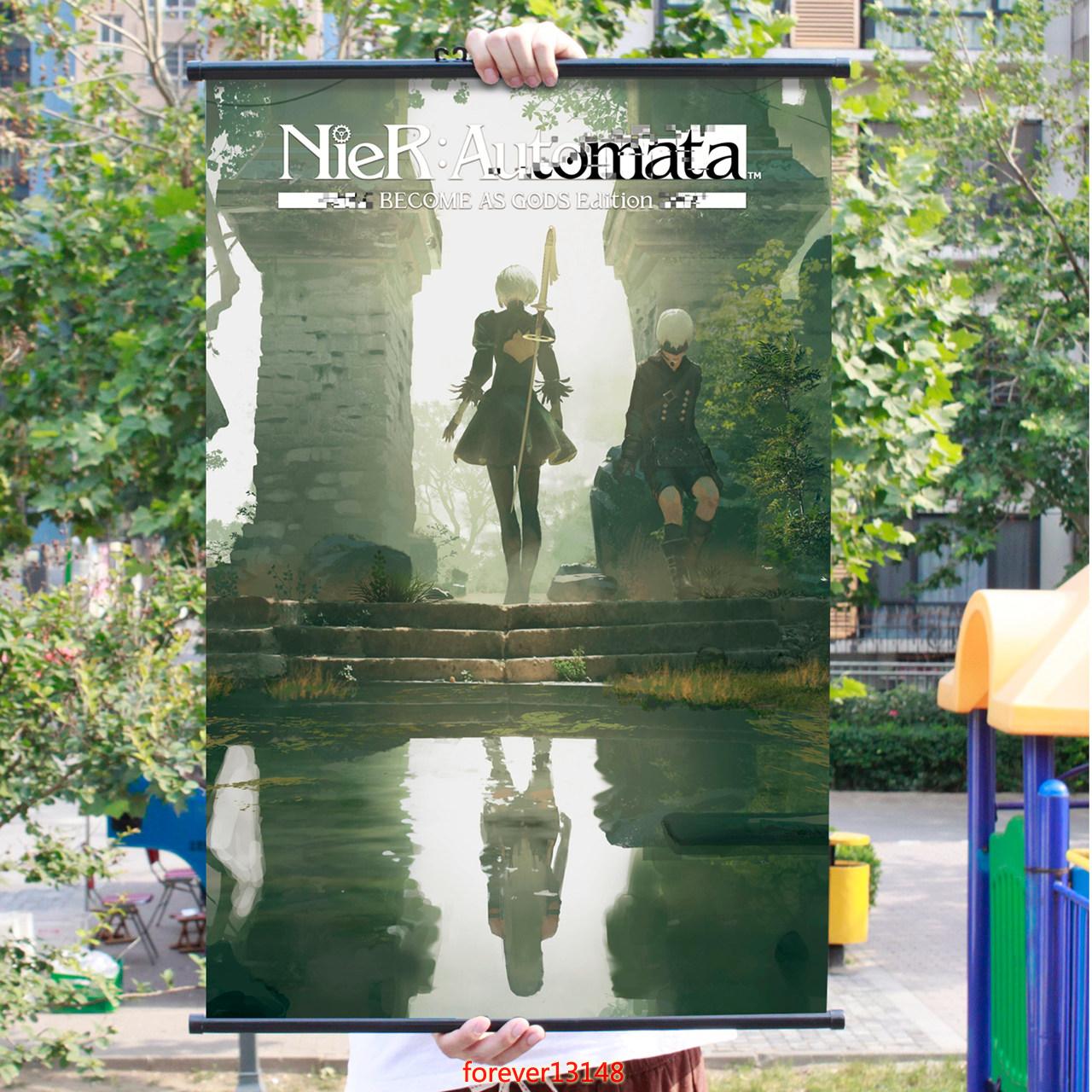 Anime NieR Automata 2B Home Decor Wall Poster Scroll  free shipping 60*90cm