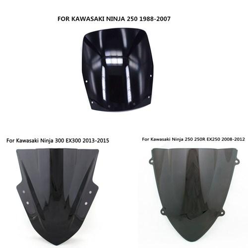 Windshield WindScreen Double Bubble Fit Kawasaki Ninja 250 250R EX250 2008-2012