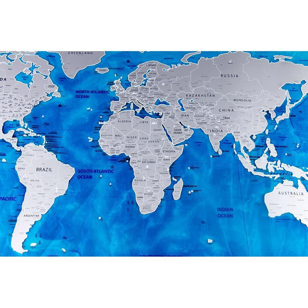 Ocean sea scratch off world map poster personalised travel log gift ocean sea scratch off world map poster personalised travel log gift size 5982cm gumiabroncs Choice Image