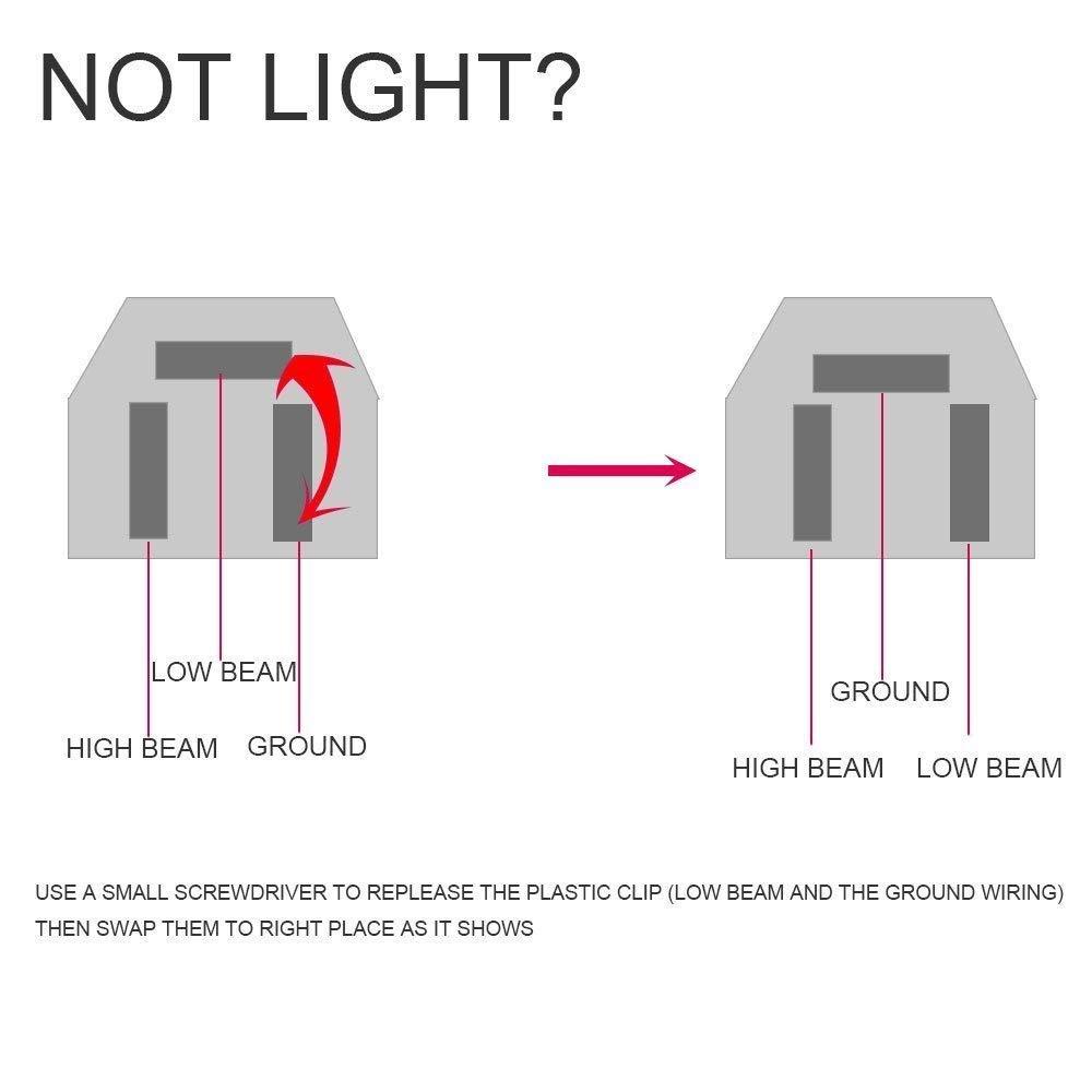 1Pair 7x6  LED Headlights HiLo Crystal Clear Sealed Beam