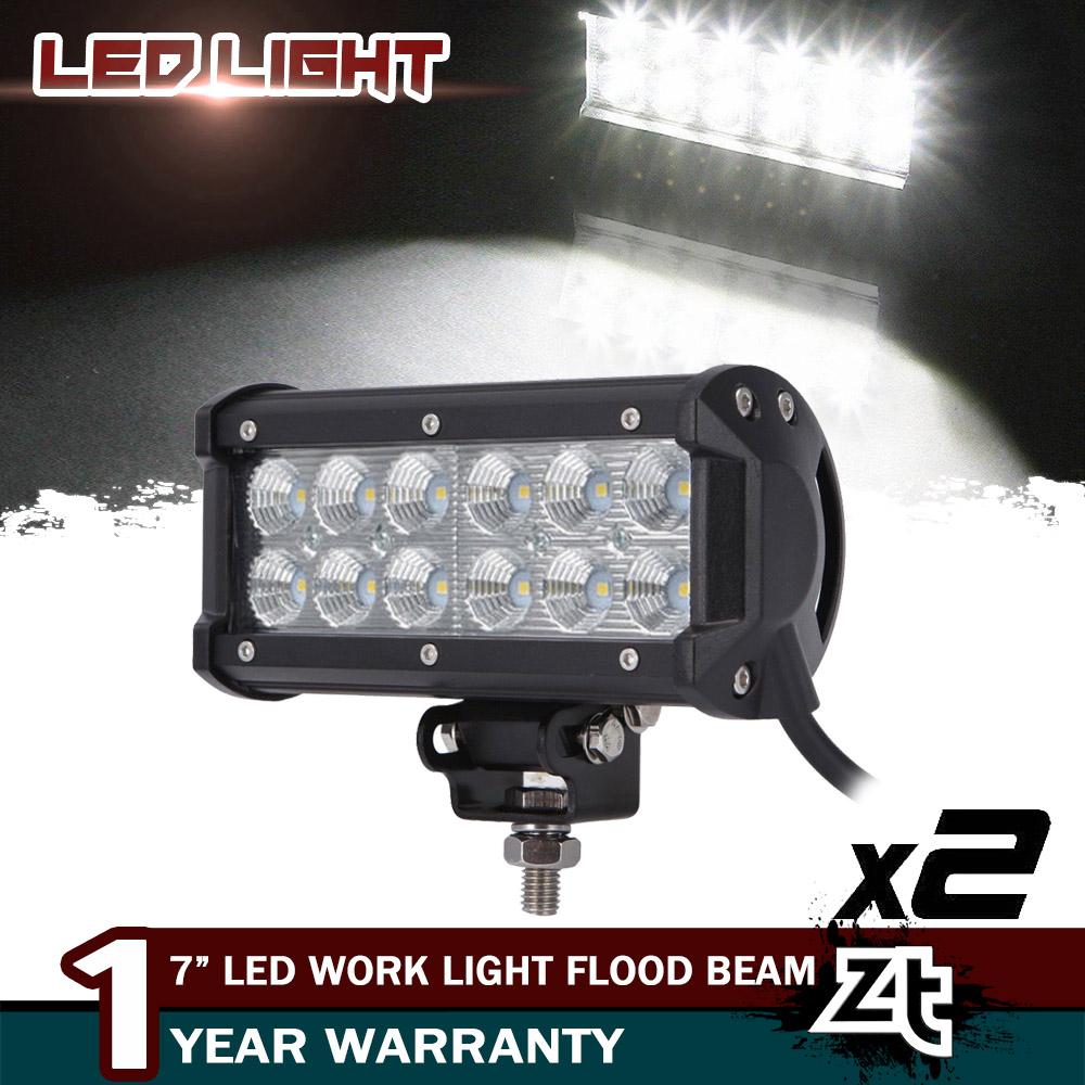 7inch CREE 36w led work light bar spot flood combo for ATV SUV tractor truck fog