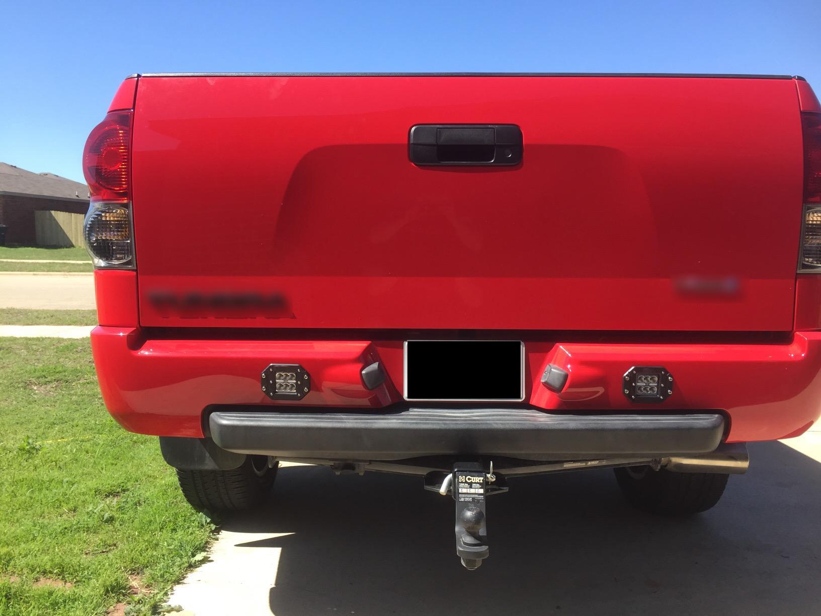 Flush Mount Backup Reverse Rear Per Led Lights For Toyota Tundra Tacoma Fj