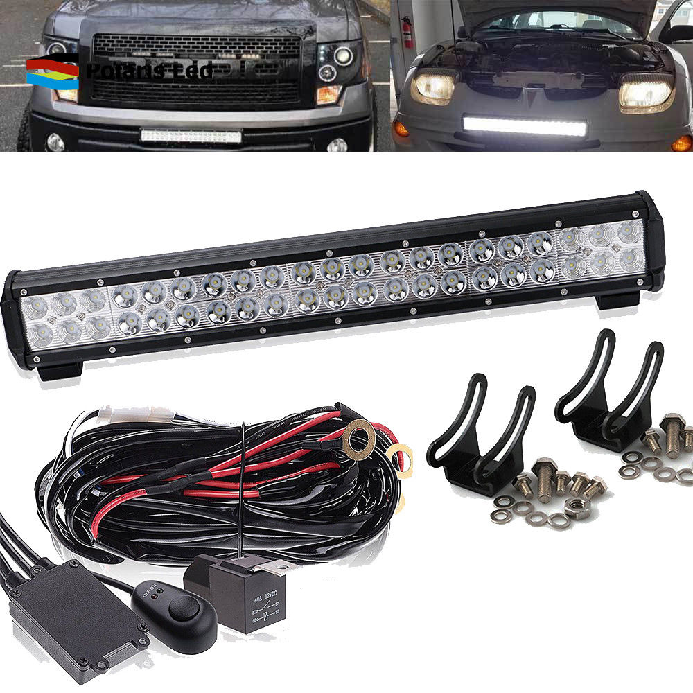 Fit Ford Truck Suv 4x4 Pick 20inch Led Light Bull Bar Wiring Model A Harness Kit