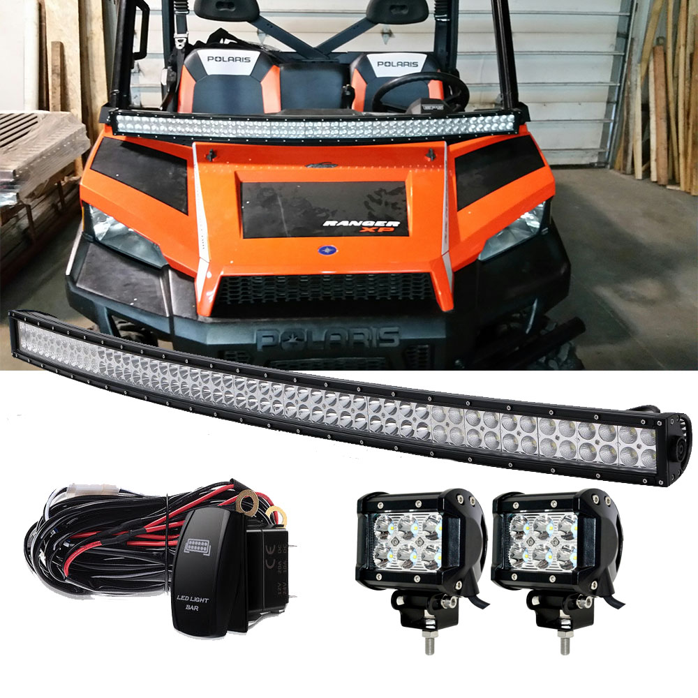 50/'/' Curved LED Light Bar+2X4/'/'Cube Pods Fits Honda Pioneer 1000 500 Accessories