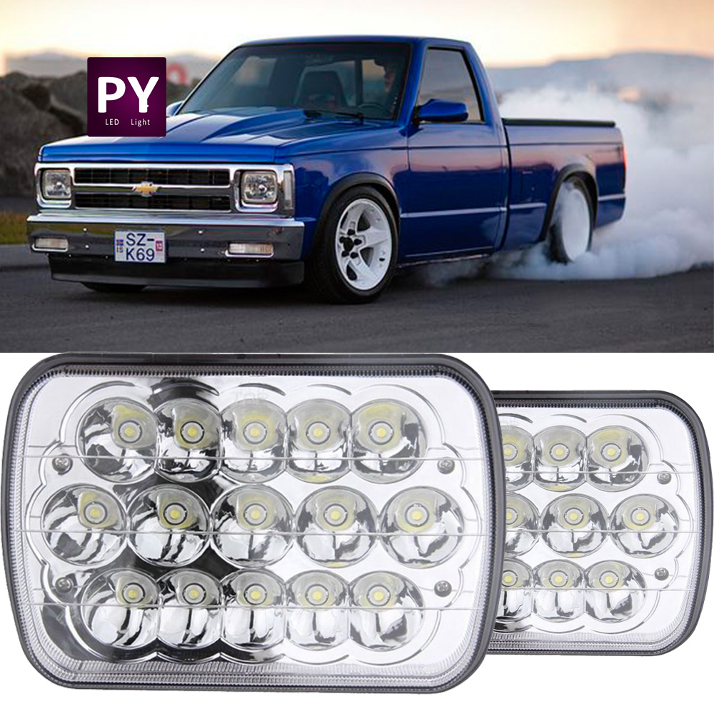 Led Headlight Square Bulb Hi Low Sealed Beam For Chevy S10