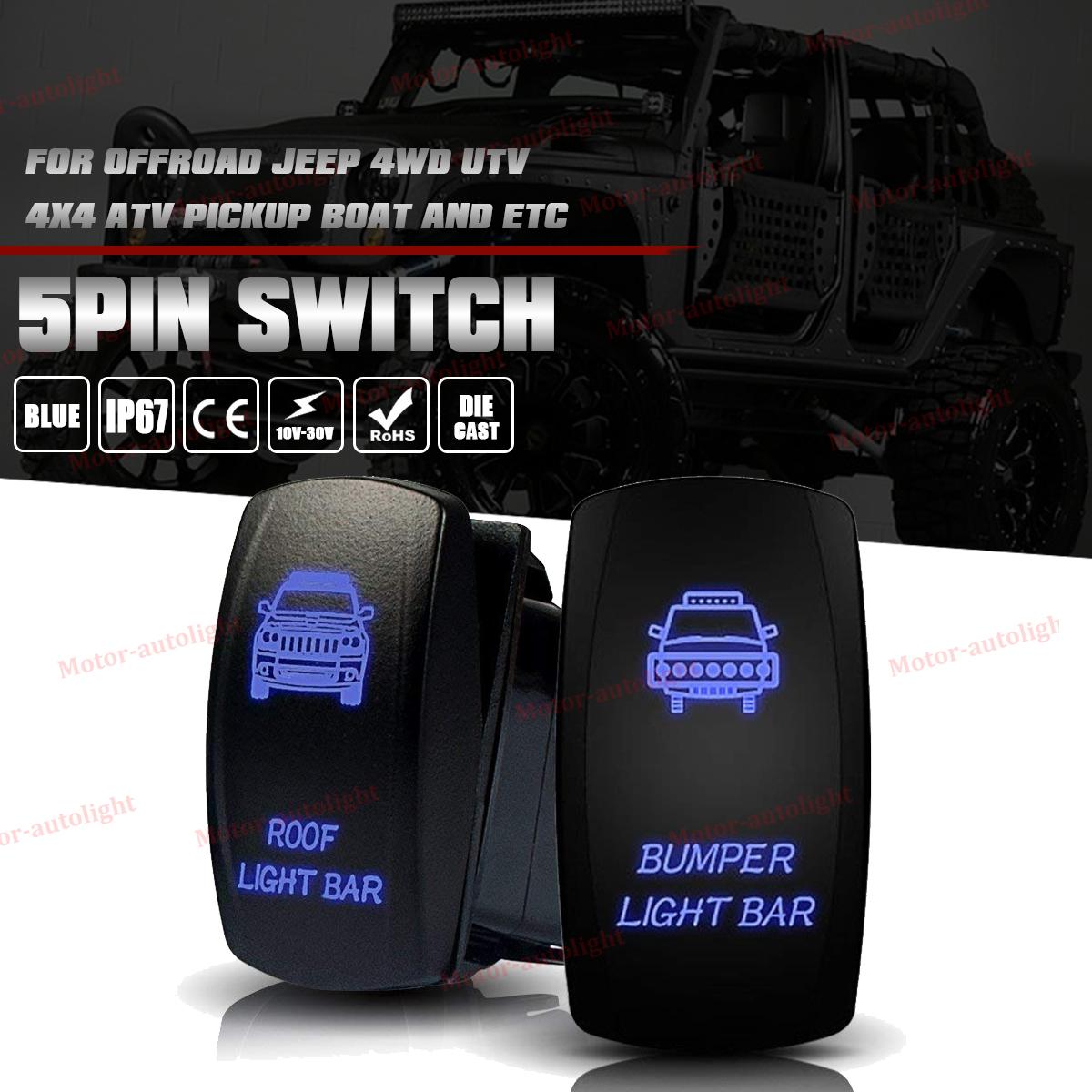 About Jeep Tj Wrangler Zombie Light Bar Rock Lights Rocker Switch