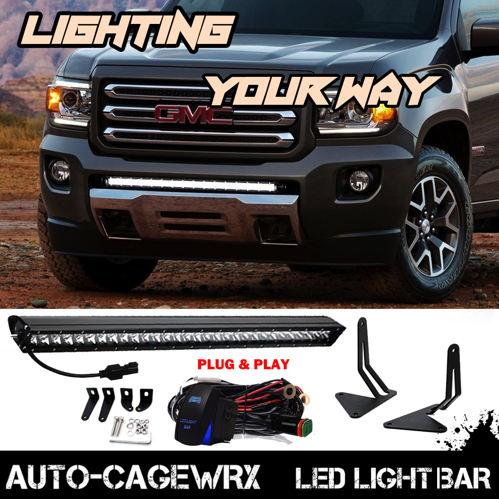 "Set Black Fog Lamp Spot Light Fit Chevrolet Colorado: For 2015-2018 GMC Canyon Chevy Colorado150W 30"" LED Light"