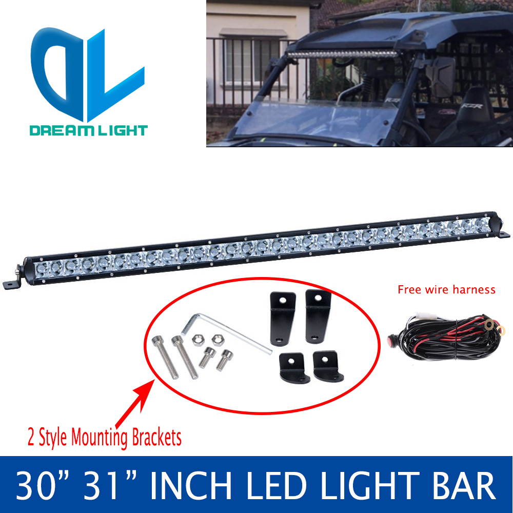 30 Inch Led Light Bar Roll Upper Mount Bracket For Utv Polaris Rzr Ranger Wiring Diagram Lights