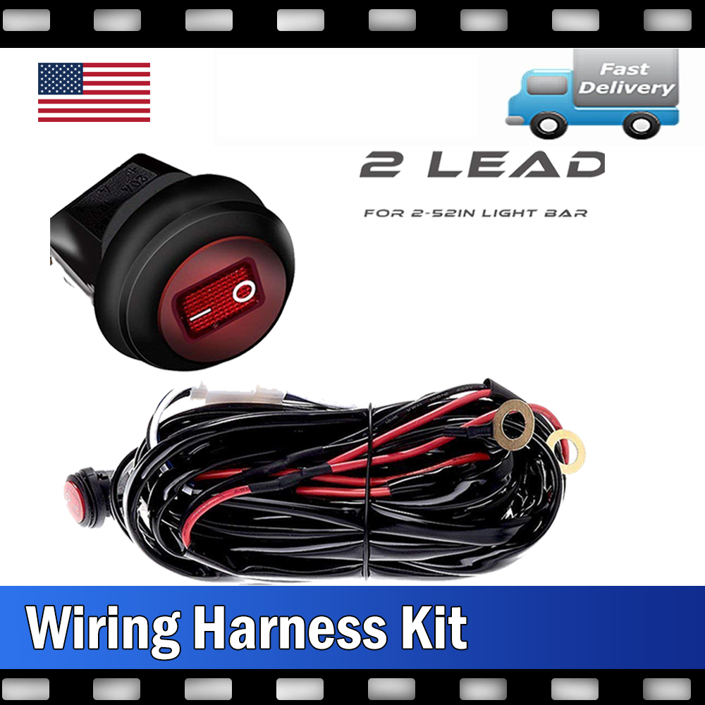 offroad led light bar toggle switch kit relay wiring harness fit rh ebay com