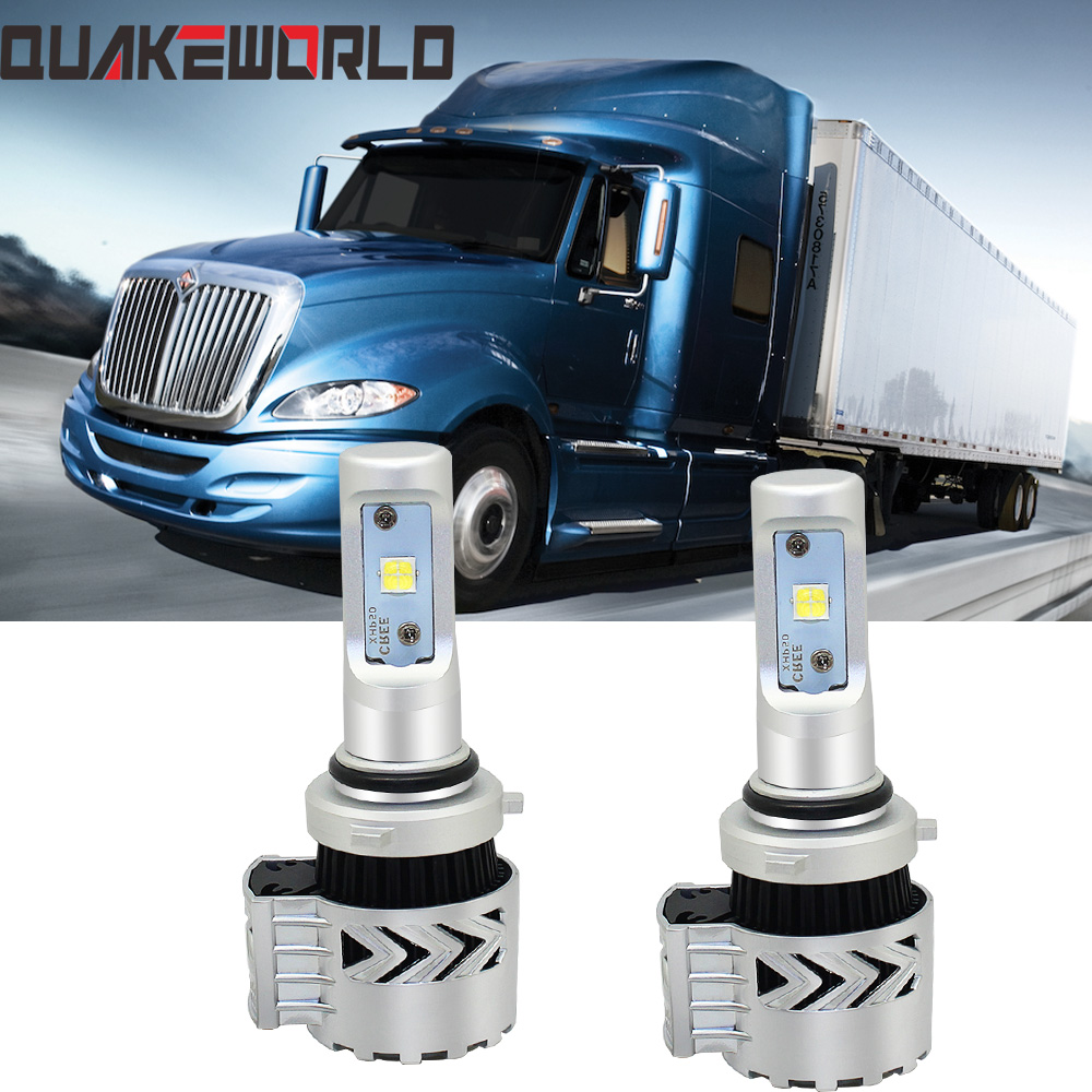 LED Headlamp Conversion Kit Xenon HID For Mack Granite CXU 2007-2015