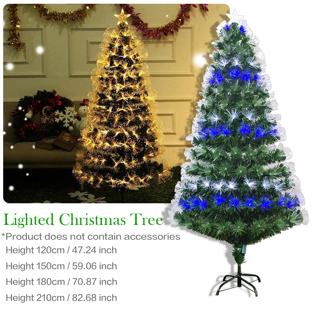 k nstlicher weihnachtsbaum mit led lichterketten christbaum beleuchte tannenbaum ebay. Black Bedroom Furniture Sets. Home Design Ideas