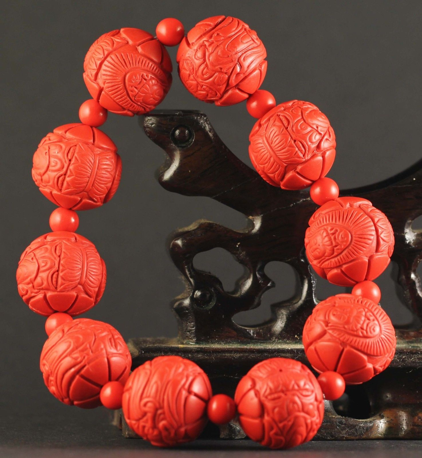China Bracelets China Old Natural Red Jade Cinnabar Bangle Chinese Jade Buhhda Beads Bracelet