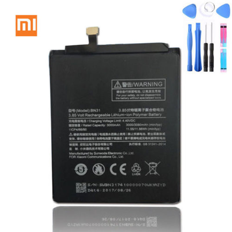 Details about Original Xiaomi BN31 Battery for Xiaomi Mi 5X Mi A1\ Redmi  Note 5A 5A pro