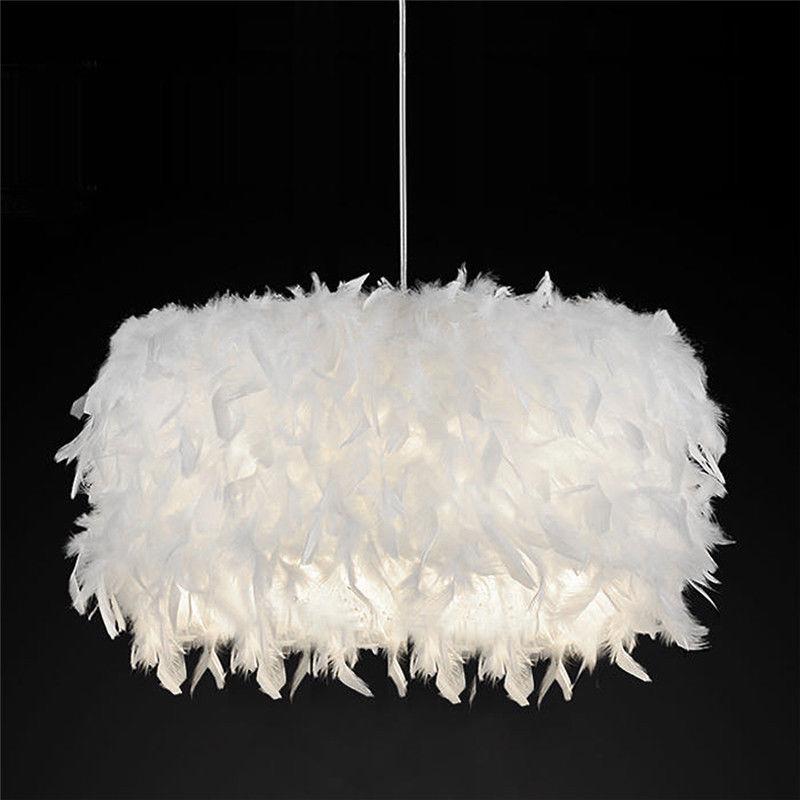 Schöne Weiße Traumhafte Feder Schatten Lampe Schlafzimmer