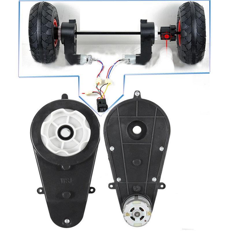 2x 2v 30000rpm getriebe mit motor f r kinderfahrzeuge. Black Bedroom Furniture Sets. Home Design Ideas