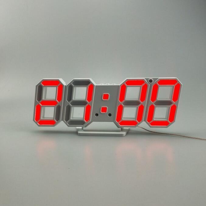 Horloge Digitale Murale LED pour Chambre Salon Cuisine Bureau ...