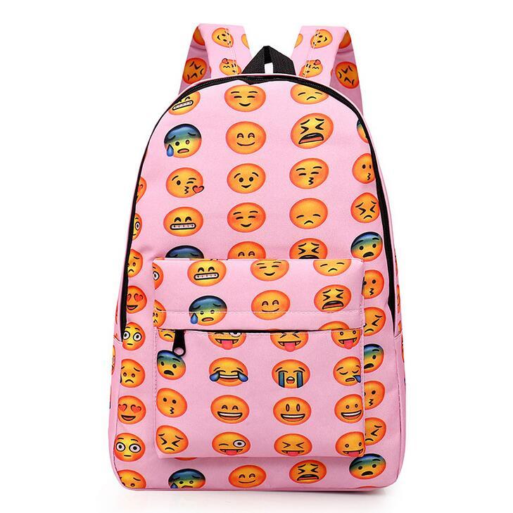 Girls Kids Emoji Bookbags School Backpacks Rucksack Satchel ...