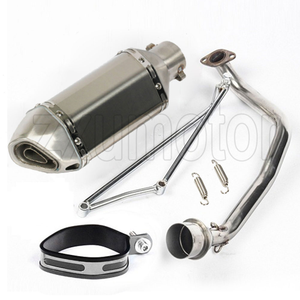 Exhaust Header Link Pipe For Honda Ruckus//Zoomer 02-15 GY6 125cc 150cc Steel