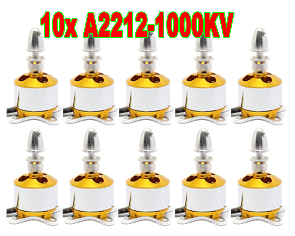 10x 2212 930 1000KV 1400KV Brushless Motor For RC Helicopter Aircraft Quadcopter