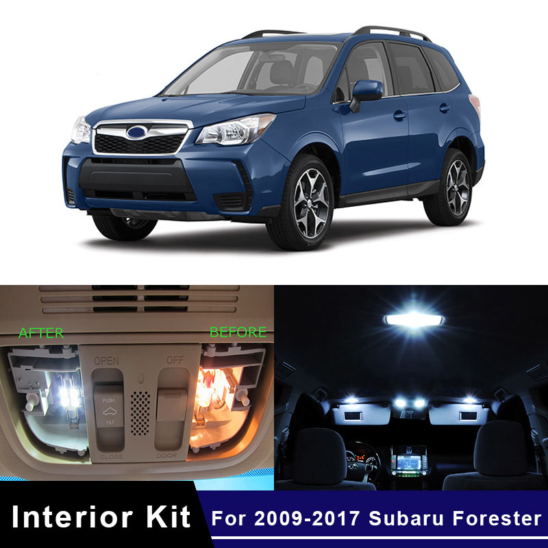 2017 Subaru Forester Accessories >> Details About 10x White Led Car Interior Light Bulbs Package Kit For 2009 2017 Subaru Forester