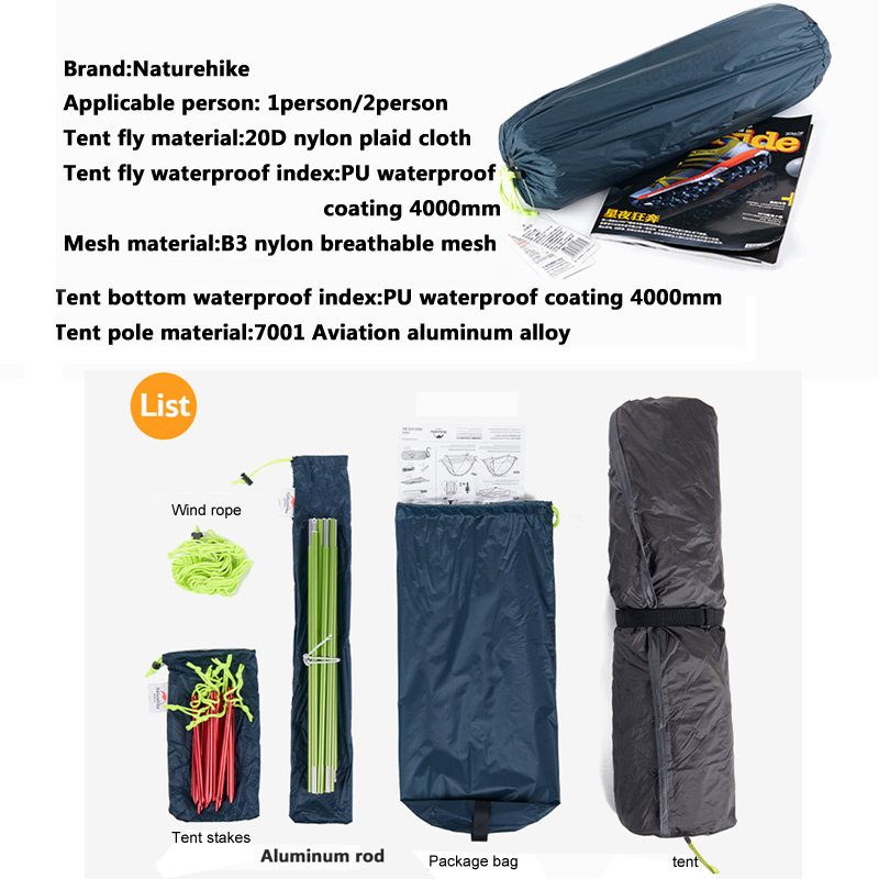Kindly reminder Groundsheet is included in this item!  sc 1 st  eBay & 3 Season Single Layer Camping Tent Ultralight Backpacking Tent 1/2 ...