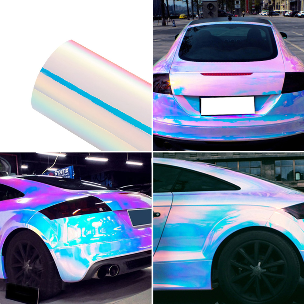 Details about chameleon pearl white color changing laser rainbow car truck vinyl wrap sticker