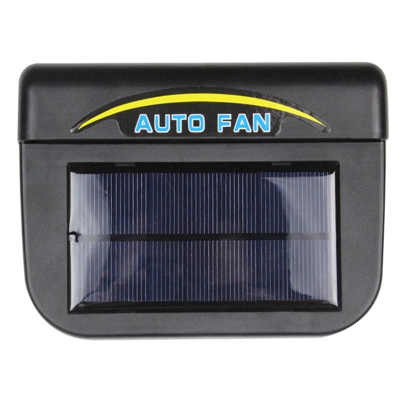 Solar Power Car Fan Portable Air Cooler Ventilation Fan