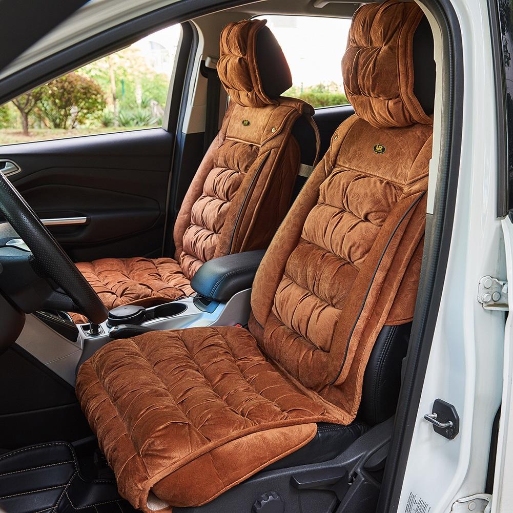 Super Details About 2X Universal Faux Fleece Plush Luxury Car Seat Covers Soft Encore Fabric Cushion Cjindustries Chair Design For Home Cjindustriesco