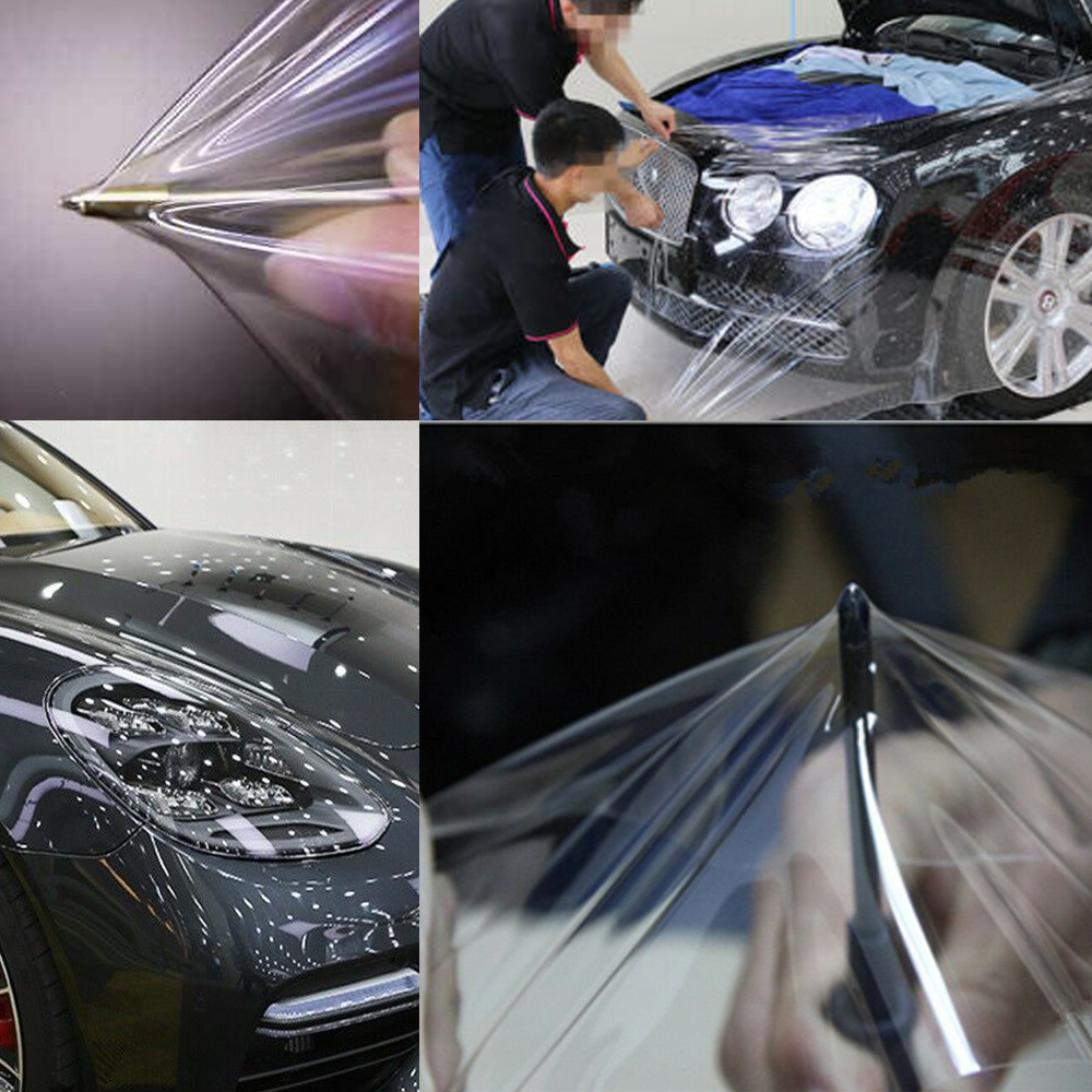 Gloss Invisible Clear Car Paint Protection Film Vinyl Wrap Sticker Bubble Free