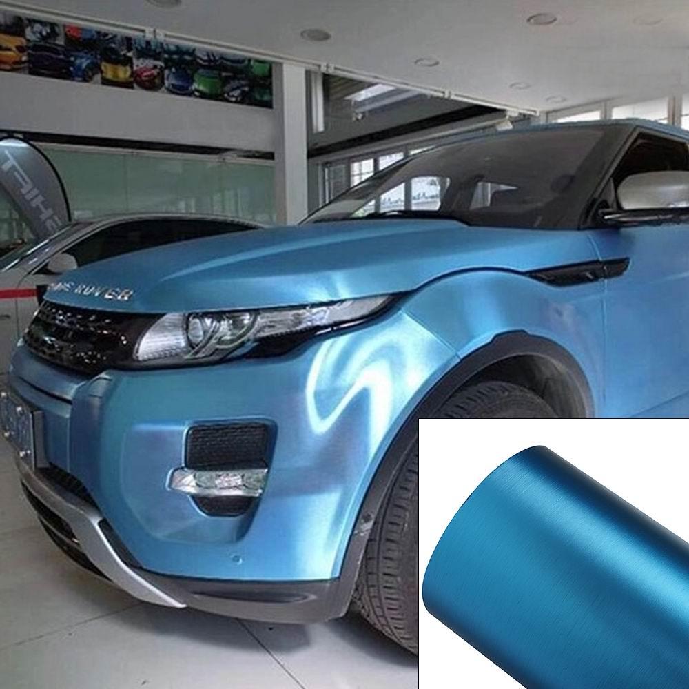 PVC Ice Light Blue Vinyl Film Wrap Roll Adhesive Car