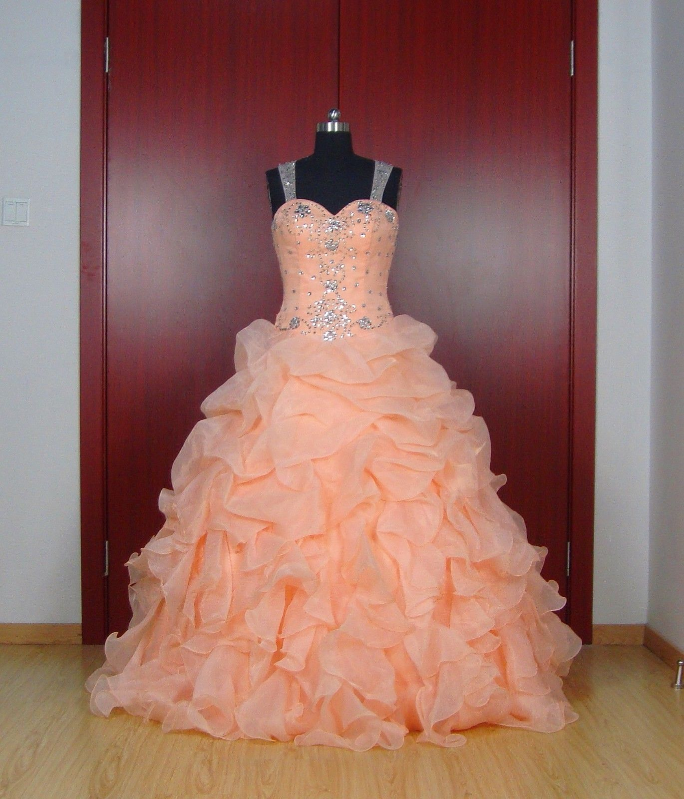 Sweet-16-Orange-Ball-Gown-Quinceanera-Dresses-Prom-Pageant-Wedding ...