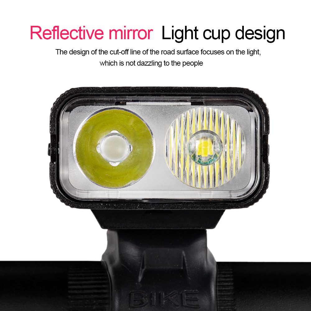 2000LM T6 LED Bicycle Front Light 6 Modes USB Rechargeable MTB Bike Front Lamp