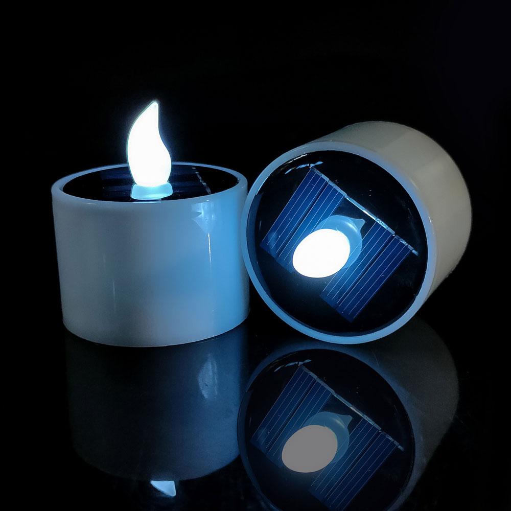 UK Solar Powered LED Candles Light Flameless Electronic LED Tea Lights Lamps