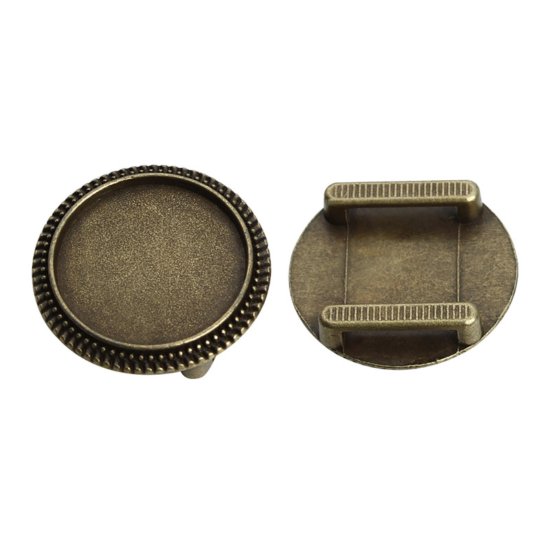 fit 10//12 mm Round Cabochons Cufflink Settings 100x Blanks with Round Bezel