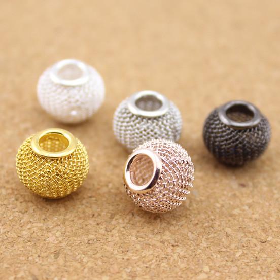 Spacer Loose Beads Rhodium Gun Metal Plastic Big Hole Bead Jewelry Making Charm