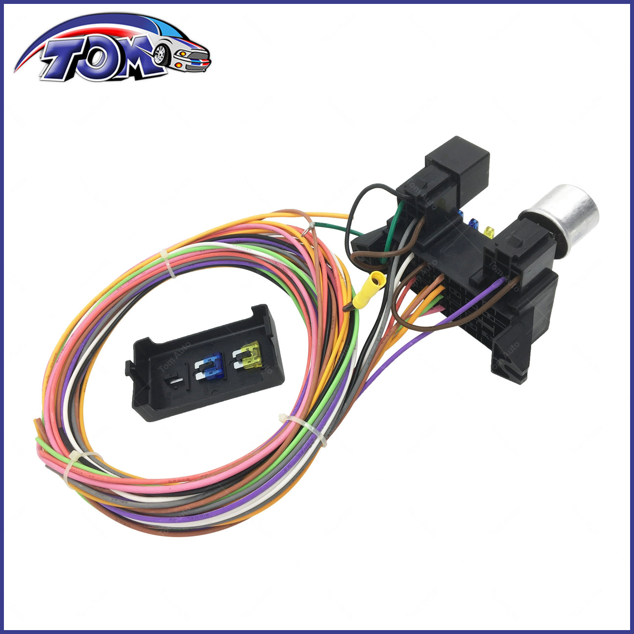 10 CIRCUIT BASIC WIRE HARNESS FUSE BOX STREET HOT RAT ROD WIRING CAR ...