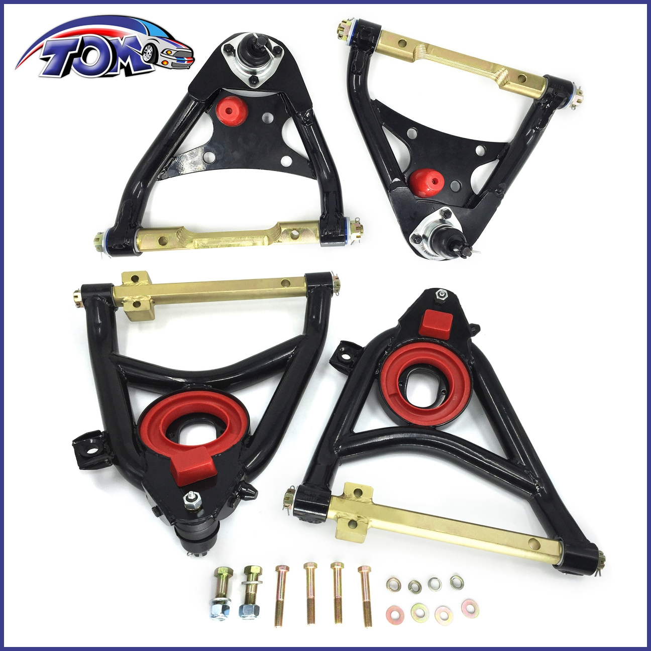 New Upper Lower Tubular Control Arms For 58 64 Chevy Impala Bel Wiring Diagram 1960 Chevrolet V8 Biscayne Belair And Air