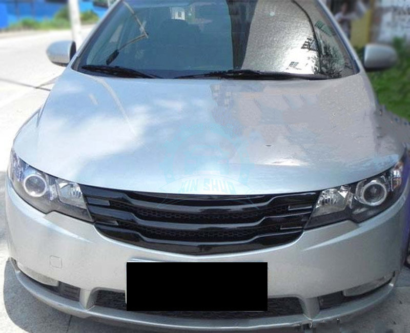 Car Front Bumper Grille Cover Abs Gloss Grills Retrofit